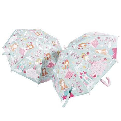 Detský dáždnik meniaci farbu v daždi: Princezny