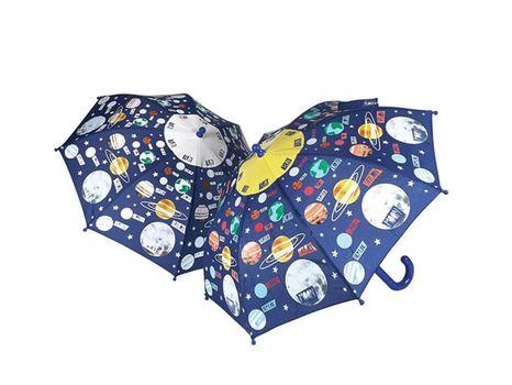 Detský dáždnik meniaci farbu Floss & Rock - Universe