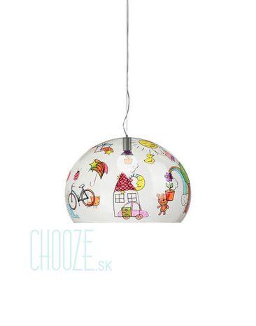 Závesná lampa FLY Kids Small - QQ transparent drawing