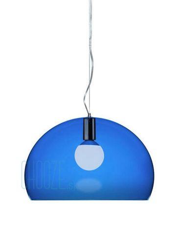 Závesná lampa FLY - K5 transparent blue