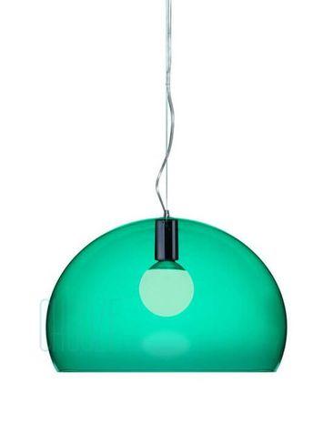 Závesná lampa FLY - K8 transparent emerald green