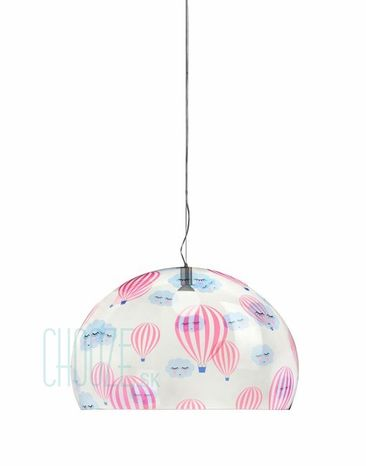Závesná lampa FLY Kids - JJ transparent hot air balloon