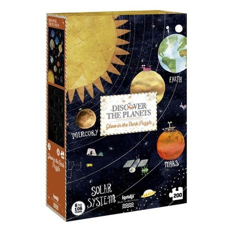 Londji Puzzle svietiace v tme 200ks: Planéty