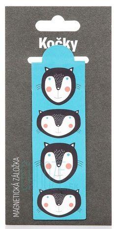 Magnetická záložka do knihy: Mačky