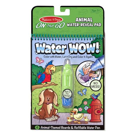 Znovupoužiteľné vodové omaľovanky Water Wow: Animals