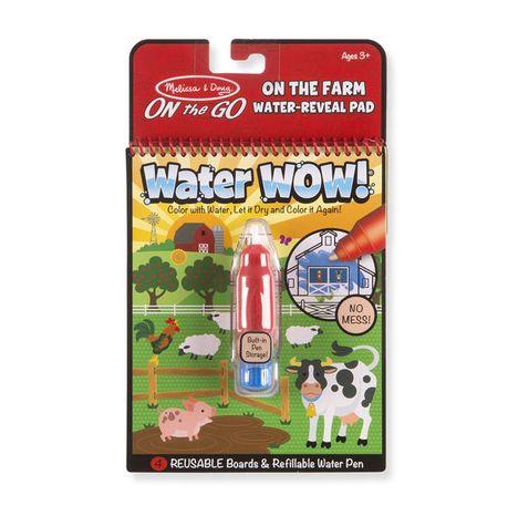 Znovupoužiteľné vodové omaľovanky Water Wow: Farm