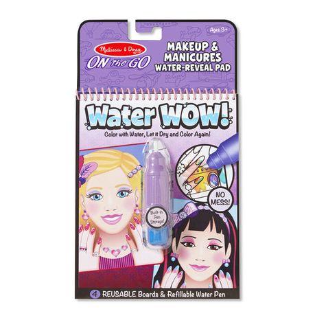 Znovupoužiteľné vodové omaľovanky Water Wow: Makeup and Manicures