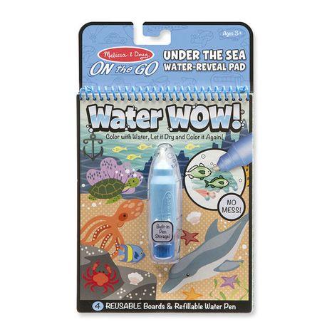 Znovupoužiteľné vodové omaľovanky Water Wow: Under The Sea
