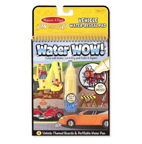 Znovupoužiteľné vodové omaľovanky Water Wow: Vehicles