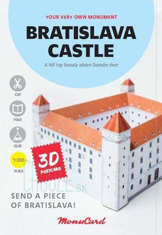 MonuCard - Bratislavský hrad - 3D pohľadnica