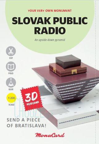 MonuCard - Slovenský rozhlas - 3D pohľadnica