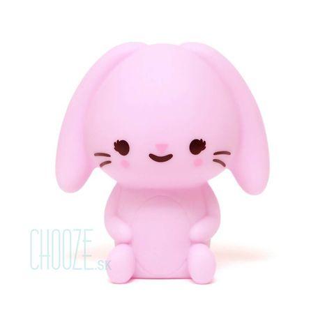Detská nočná LED lampa Bunny Lilac - ružový zajačik