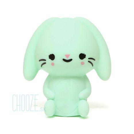 Detská nočná LED lampa Bunny Mint - mentolový zajačik