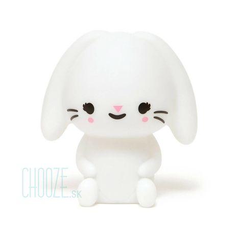 Detská nočná LED lampa Bunny White - biely zajačik