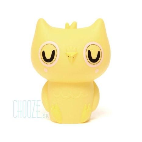 Detská nočná LED lampa Owl Yellow - žltá sovička