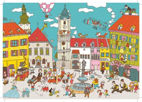 Pohľadnica Bratislava: Námestie