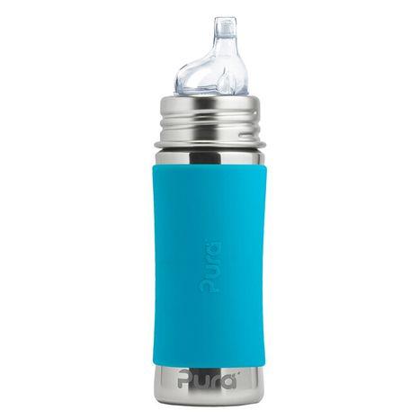 Pura nerezová fľaša s náustkom 325ml Modrá