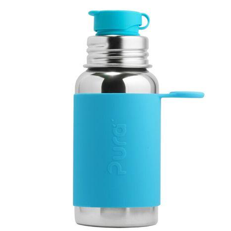 Pura nerezová fľaša so športovým uzáverom 550ml Modrá