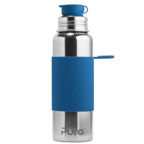 Pura nerezová fľaša so športovým uzáverom 850ml Tmavomodrá