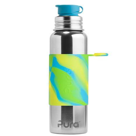Pura nerezová fľaša so športovým uzáverom 850ml Zelenomodrá