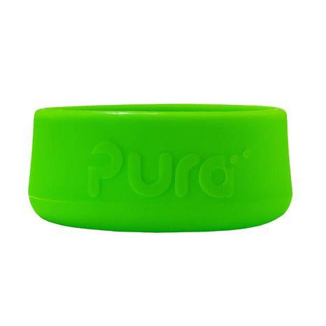 Pura - Silikónový chránič na fľašu - Zelený