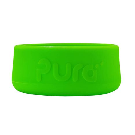 Pura Silikónový chránič na fľašu: Zelený