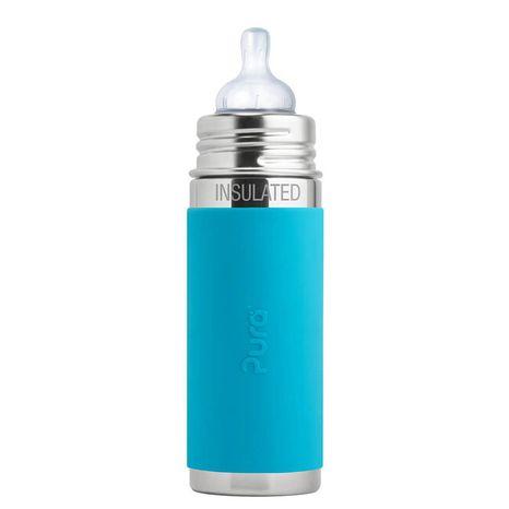 Pura TERMO nerezová dojčenská fľaša 260ml Modrá