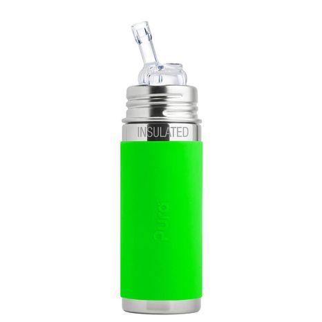 Pura TERMO nerezová fľaša so slamkou 260ml Zelená