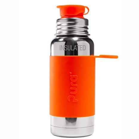 Pura TERMO nerezová fľaša so športovým uzáverom 475ml Oranžová