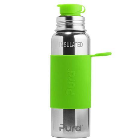 Pura TERMO nerezová fľaša so športovým uzáverom 650ml Zelená