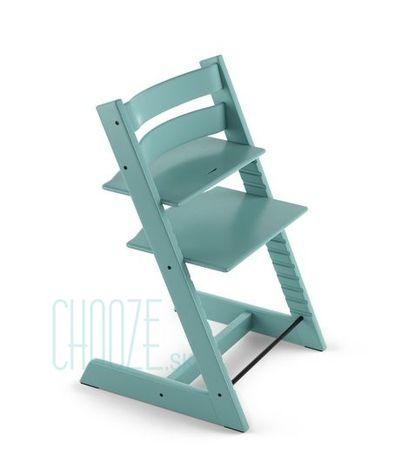 Stokke Rastúca stolička Tripp Trapp Beech: Aqua Blue