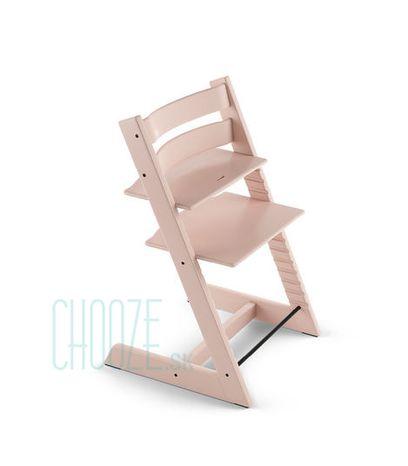 Stokke Rastúca stolička Tripp Trapp Beech: Serene Pink