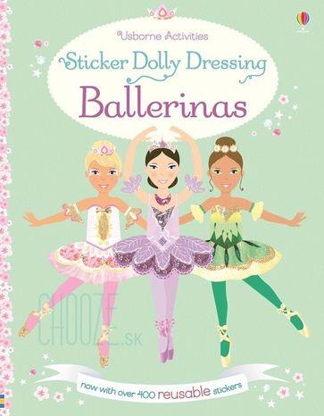 Znovupoužiteľné nálepky Sticker Dolly Dressing: Ballerinas