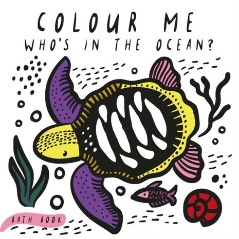 Wee Gallery Kniha do vody: Colour Me Who's in the Ocean?