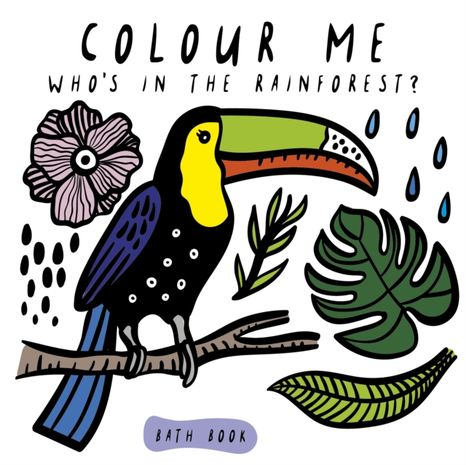 Wee Gallery Kniha do vody: Colour Me Who's in the Rainforest?