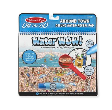 Znovupoužiteľné hľadacie vodové omaľovanky Water Wow Deluxe: Around Town