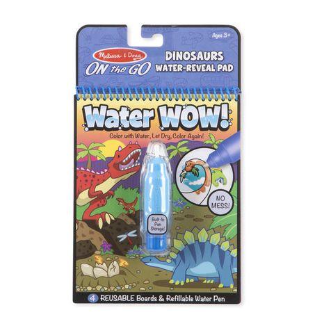 Znovupoužiteľné vodové omaľovanky Water Wow: Dinosaurs