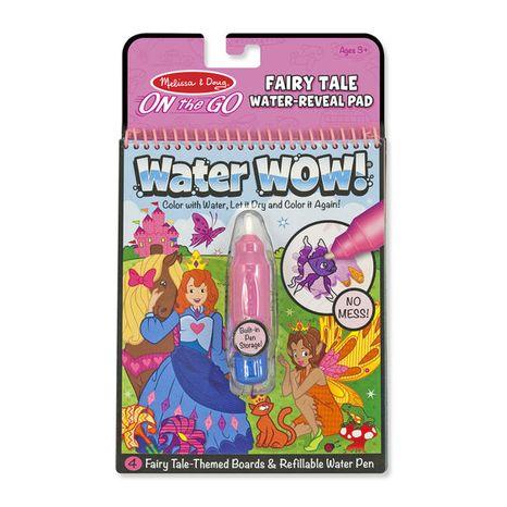 Znovupoužiteľné vodové omaľovanky Water Wow: Fairy Tale
