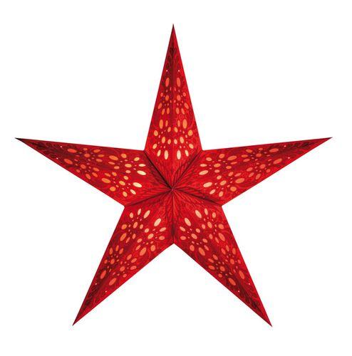 Vianočná hviezda Mono S - červená