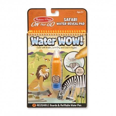 Znovupoužiteľné vodové omaľovanky Water Wow: Safari